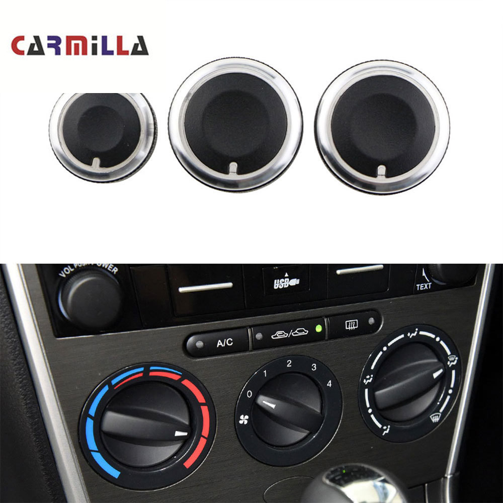 Air Conditioning Knob Fit For Toyota Corolla EX For BYD F3 F3R 3Pcs/set Aluminum Alloy AC Knob Heat Control Button Accessories