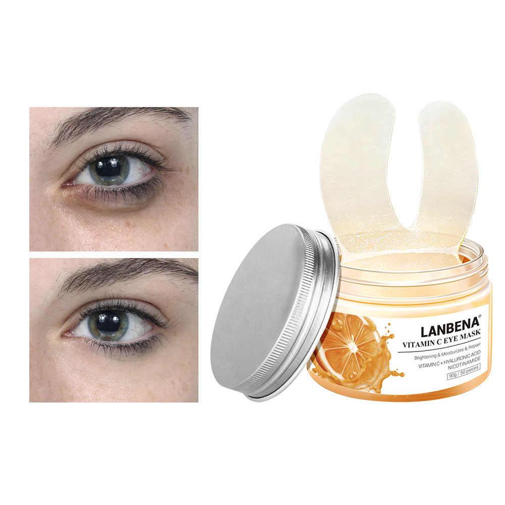 50Pcs VC Hyaluronzuur Retinol Oogmasker Huidverzorging Verstevigende Sheet Masker Anti-Wallen Eye Patches Te Verwijderen Dark cirkels TSLM2
