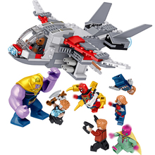 Legoing Captain Marvel Avengers Endgame Thanos Spiderman Antman Thor Iron Man War Machine Building Blocks Bricks Toys