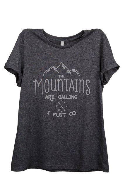 Mulheres t-shirt As Montanhas da moda Estão Chamando camisetas