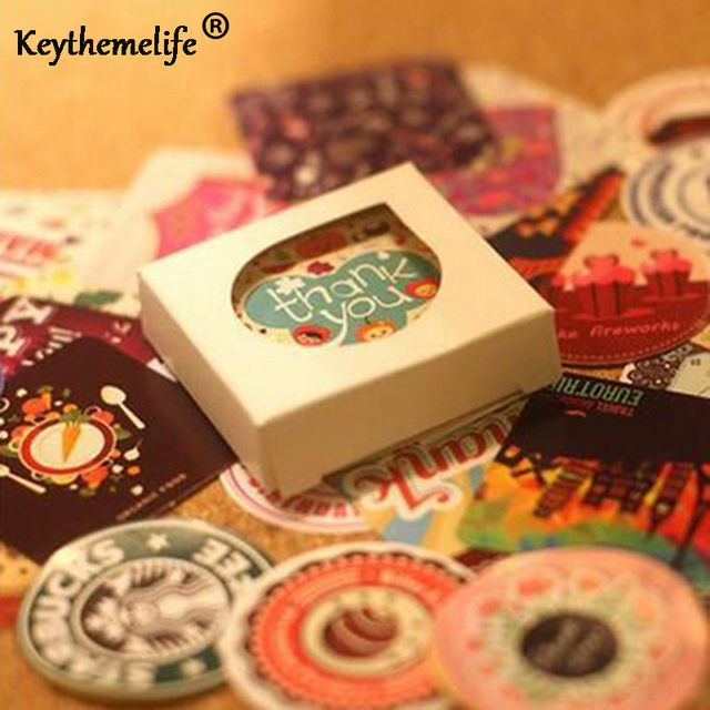 5 가방/몫 DIY 스크랩북 종이 스티커 38 옵션 유럽 공예 스크랩북 장식 스티커 홈 장식 스티커 F