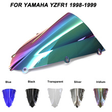 Motorcycle Motorbike Windshield Double Bubble Windscreen Wind Deflectors For Yamaha YZFR1 YZF R1 yzf r1 1998-1999 1998 1999 for yamaha yzf 1000 r1 1998 1999 motorbike seat cover motorcycle red fairing rear sear cowl cover free shipping