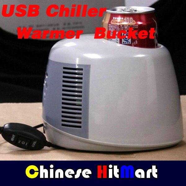 Vendas Hot!!! atacado USB Refrigerador Refrigerador E Aquecedor 1 Garrafas Pode Balde Para Carros E Casa De Alta Qualidade 5 pçs/lote # J353-2