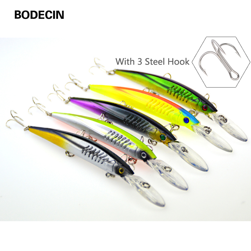 5ps Crankbaits Minnow Fishing Lure With Hooks Artificial Tackle Hard Laser Bait Carp Lures Pesca Wobbler Sea Swimbait 14.5cm Set 5pcs lot minnow crankbait hard bait 8 hooks lures 5 5g 8cm wobbler slow floating jerkbait fishing lure set ye 26dbzy