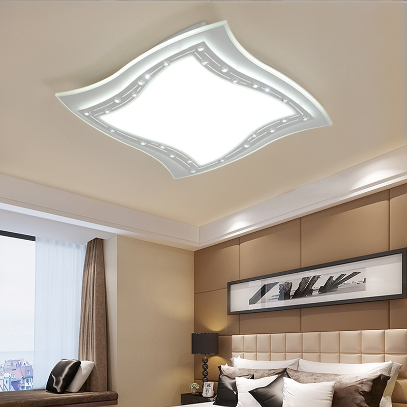 Slim and simple modern LED acrylic Ceiling light living room bedroom study commercial lighting ceiling lamp AC90 260V