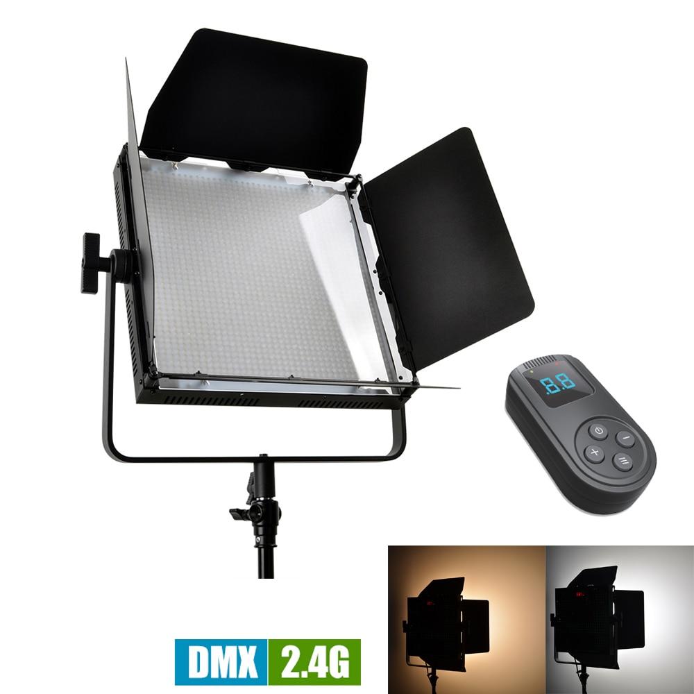 TOLIFO 1520 Leds Bi-Color 3200K - 5600K DMX LED Video Studio Photo Light High CRI + 2.4G Wireless Remote Control