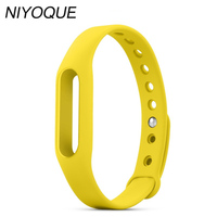 NIYOQUE For Xiaomi Mi band Smart Wristband Silicone Replace Strap Mi Band Bracelet For mi band Wristband 1S 1A Wearable 9 Colors