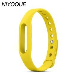 NIYOQUE Per Xiaomi Mi band Smart Wristband Del Silicone Sostituire Cinghia Mi Braccialetto della fascia Per mi band Wristband 1 S 1A Indossabile 9 Colori