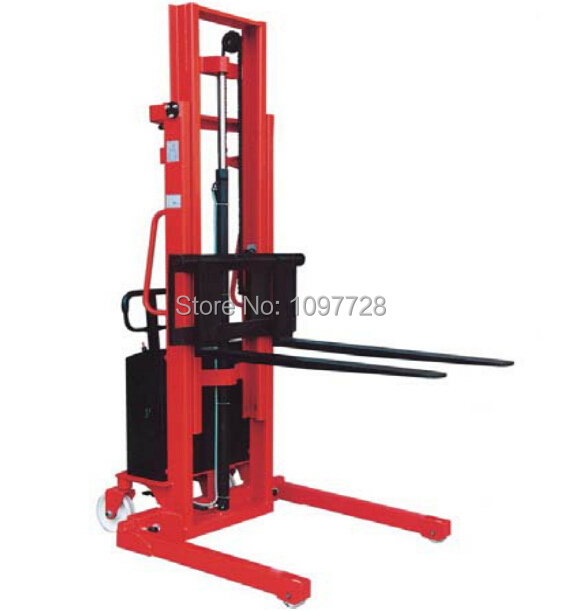 1.5T 3.3M warehouse stacker for double face pallet, 1.5T cheap semi-electric pallet stacker with lifting height to 3.3m et 165 mcu 24 48v electronic throttle for forklift stacker pallet truck