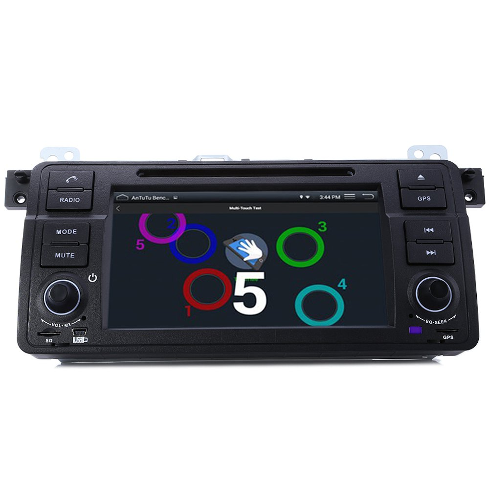 1 Din Quad Core Car DVD Player for BMW Series E46 DVD WIFI Single Din DVD Player for BMW In-dash Auto Video Multimedia Players