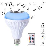 E27 Smart RGB RGBW Wireless Bluetooth Speaker LED Lamp Bulb 85V 265V LED Dimmable Music Playing