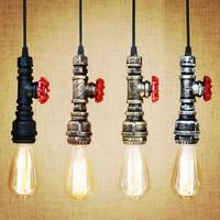 Water Pipe Pendant Light Fixtures Style Loft Industrial Vintage Lamp Hanglamp LED Edison American Retro Pendant Lighting