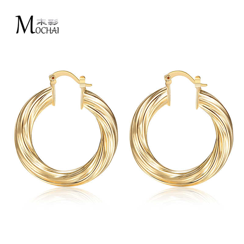 14eb6ce90 Vintage loop Hoop Earrings For Women Gold Color Rock Punk Round Circle Hoop  Earring Party Gifts