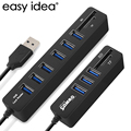 USB HUB 3.0 Combo Multi USB Splitter 3.0 HUB 3 USB Hab 3/6 Ports 2 In 1 SD/TF Card Reader Computer Accessories for PC Laptop