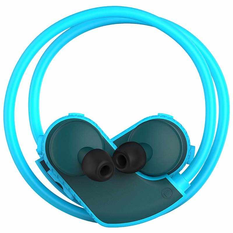 100% impermeable MP3 piscina auriculares IP68 MP3 reproductor de música auriculares deportivos Sweatproof auriculares RAM 8 GB altavoz portátil USB