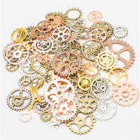 Wholesale Mix Style Vintage Steampunk Charms Gear Pendant Antique Bronze Fit Bracelets Necklace DIY Metal Jewelry