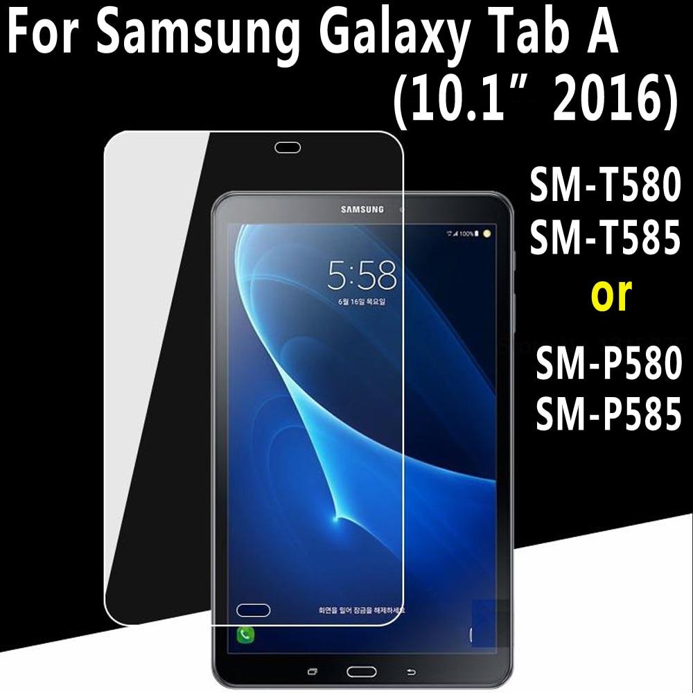 0d3f1e1085fe De alta calidad de vidrio templado para Samsung Galaxy Tab A A6 10,1  pulgadas 2016 T580 T585 SM-T580 SM-T585 SM-P580 SM-P585 Protector de  pantalla