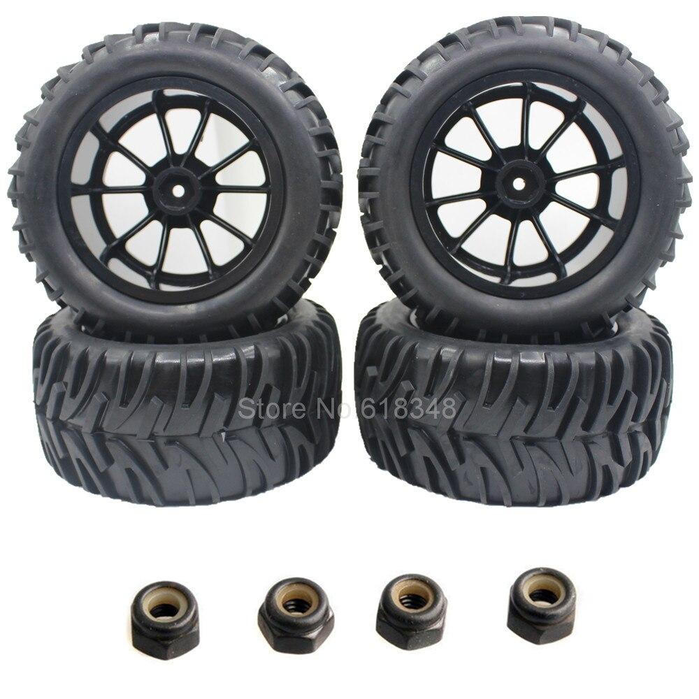 4x RC Truck Tires Spugna   Wheels Rim Spugna Inserito Per 1 10 HSP Himoto  Redcat AMAX Superare HPI Off Road Mostro 4WD ead71c6998b