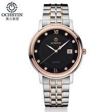 Clcok OCHSTIN Marca hombres Mujeres de La Manera Simple Casual Relojes Hombres Fecha Impermeable Señora de Cuarzo Para Hombre Reloj de Pulsera Relogio masculino