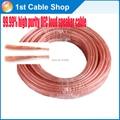 Envío libre y venta al por mayor 20 M/lote 14AWG 322 líneas de cable del altavoz cable de altavoz OFC cable de 99.99% conductores de cobre oxgen libre