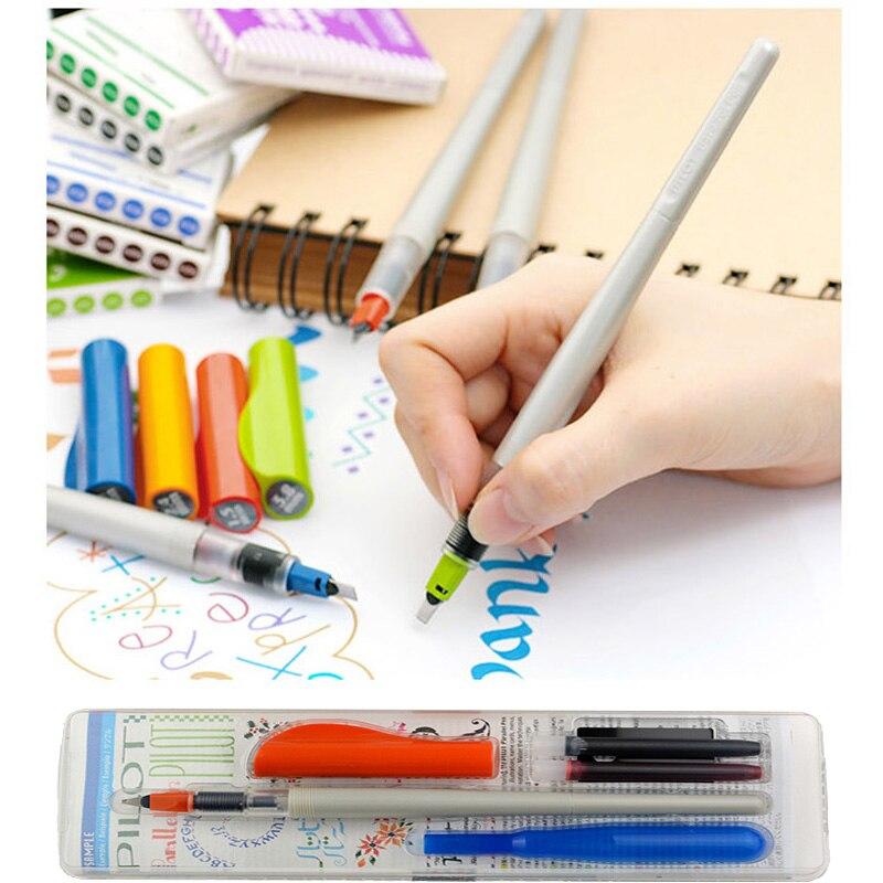 1.5 2.4 3.8 6.0mm pilot parallel pen art Arabic calligraphy Width Artist Calligraphy Pen English Font Writing Pen italic nib art fountain pen arabic calligraphy black pen line width 1 1mm to 3 0mm