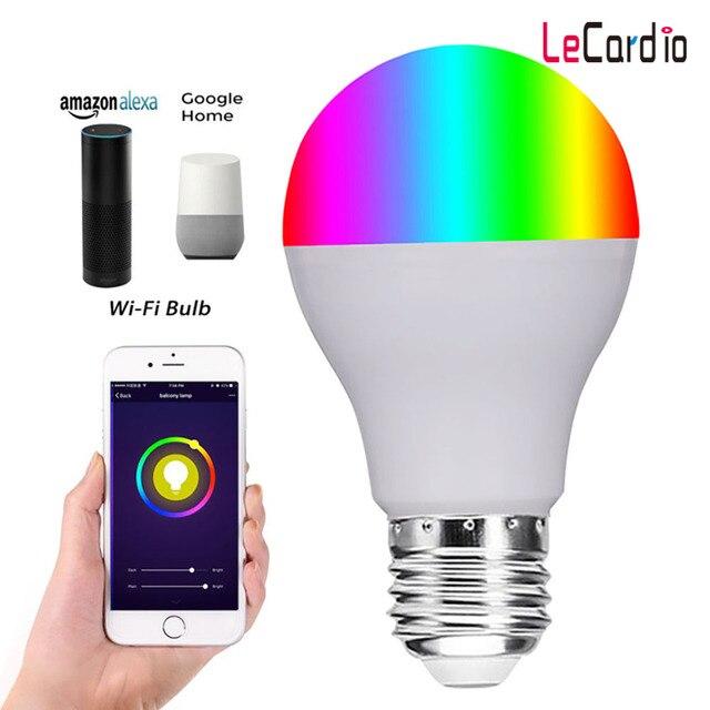 Wifi лампочка умная лампочка, 11 Вт прожектор лампа Wifi управление праздничное освещение 16 миллионов разных цветов, Совместимость с Alexa Echo