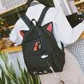 Женский нейлоновый рюкзак с принтом в стиле Харадзюку  уличная сумка для подростков  повседневный милый рюкзак в Корейском стиле с ушками з...
