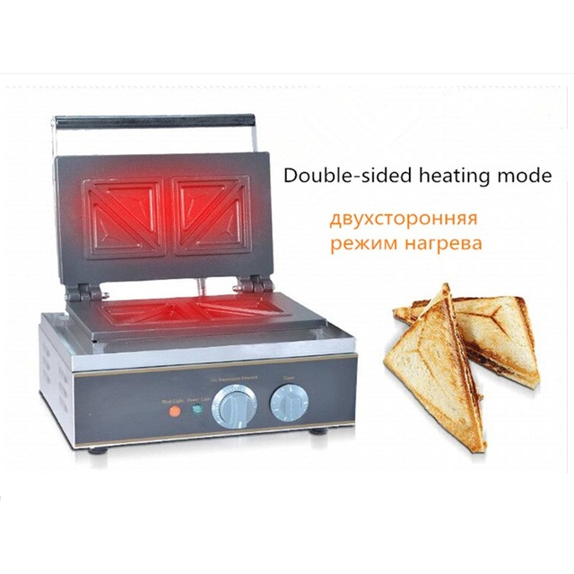 110/220V Electric Sandwich Maker 4pcs Double Heating Plate 94*94*10mm Single Size Commercial Sandwich Waffle Machine EU/AU/UK/US