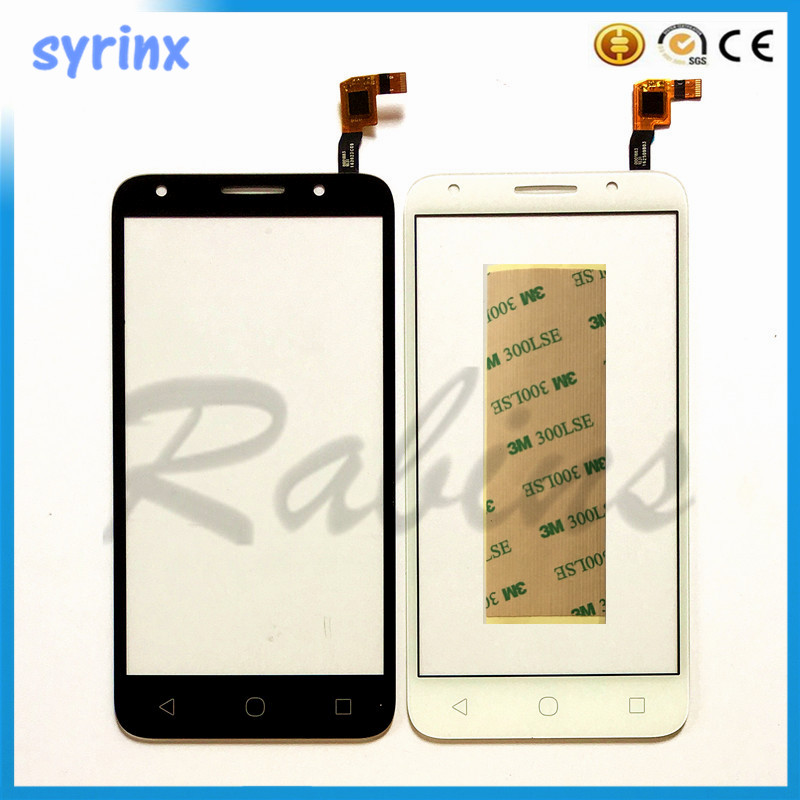 SYRINX Free tape touch screen sensor glass panel touchscreen digitizer For <font><b>Alcatel</b></font> One Touch U5 5044D 5044I <font><b>5044T</b></font> 5044Y OT5044 image