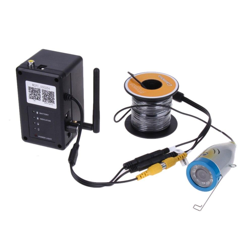 15m Professional Fish Finder Underwater Fishing Video Camera Video Recorder 1000TVL HD CAM 12pcs Infrared light
