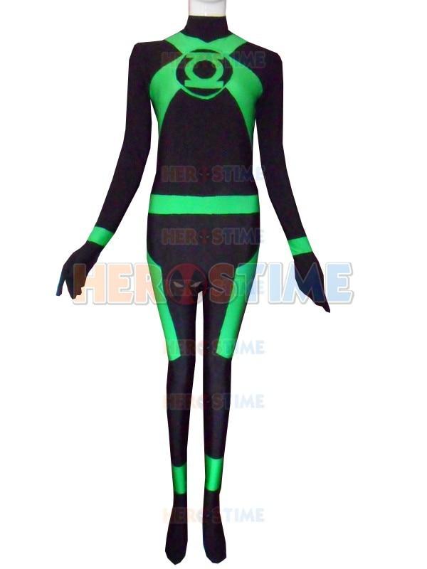 Green Lantern Corps costume The Most Classic Halloween Cosplay Green Lantern Spandex Superhero Costumes Free Shipping