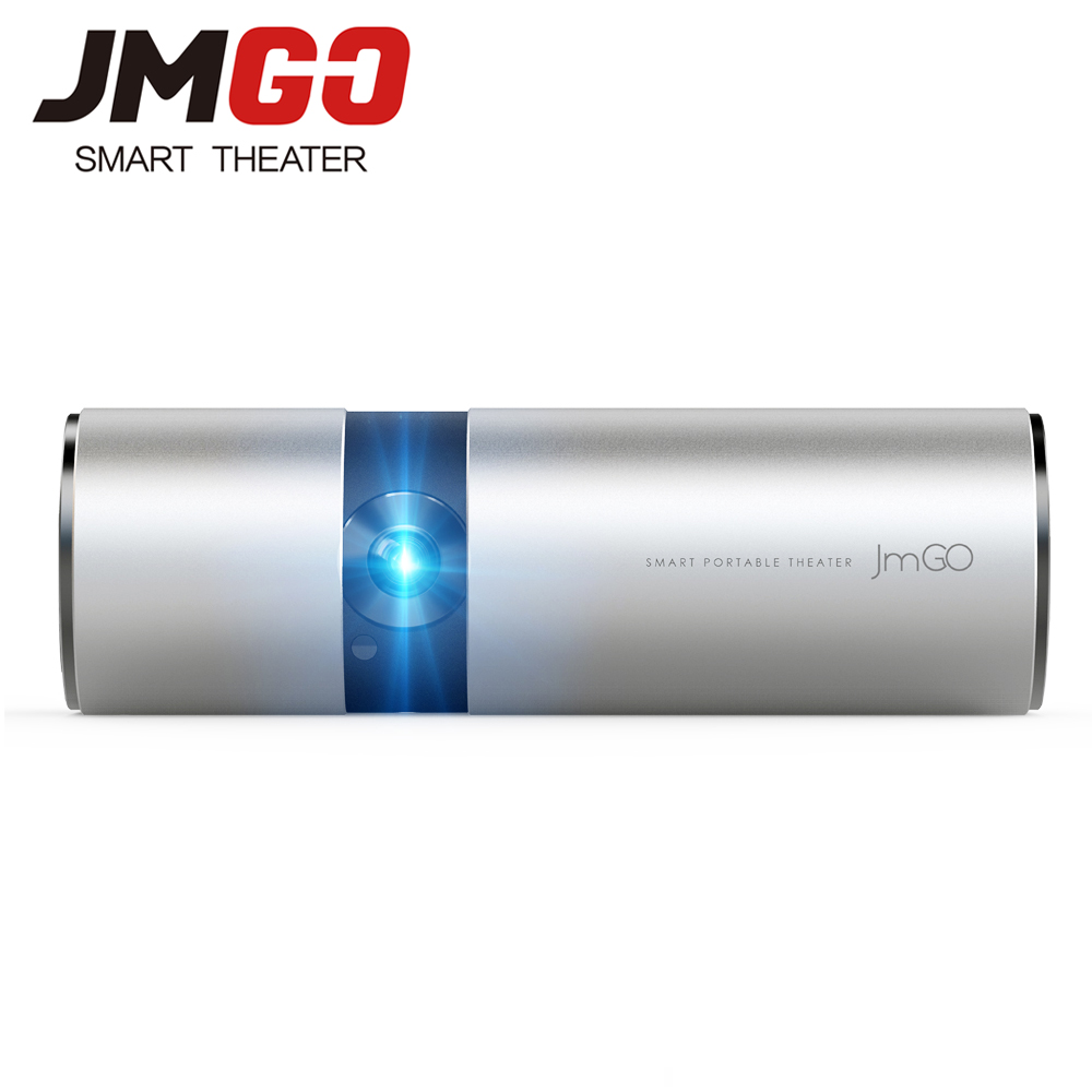 JMGO P2 Portable LED Projecteur 250 ANSI Lumens, built-in 15600 mAh Batterie Au Lithium Android HD Projecteur, WIFI, Bluetooth Haut-Parleur