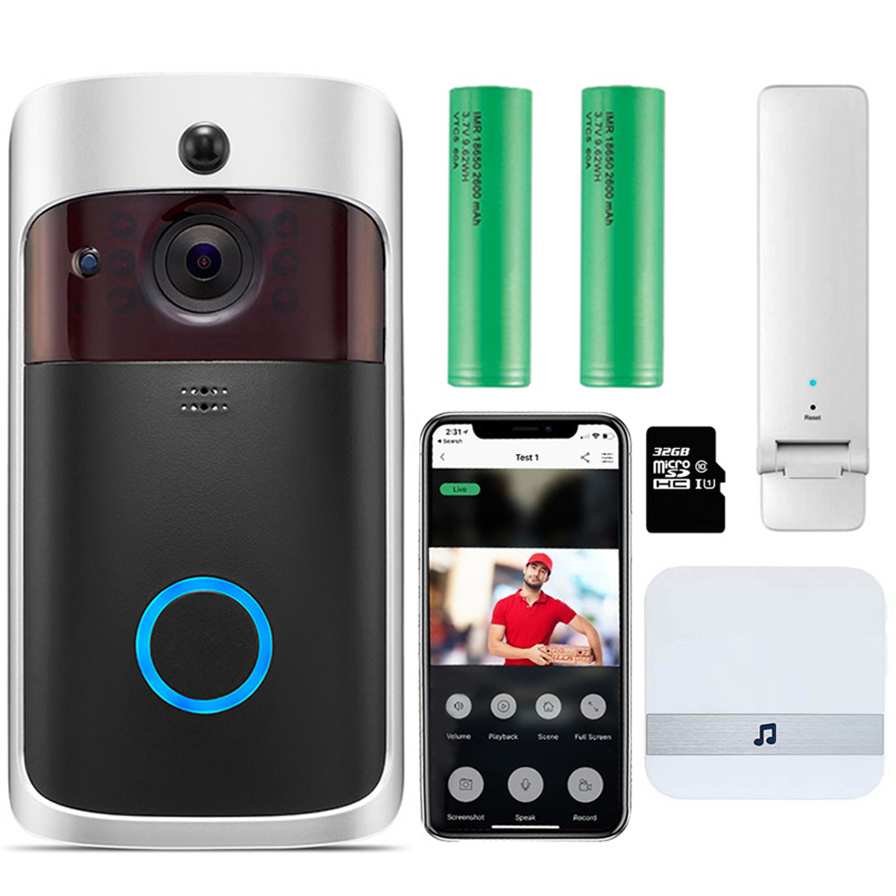 WIFI Doorbell Smart IP Video Intercom WI-FI Video Door Phone Door Bell Camera For Apartments IR Alarm Wireless Security Camera