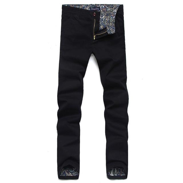 Men Pants 2017 New Men Casual Pants Slim Fit Business Design male trousers High Quality Cotton Fashion active Pants Army yc150