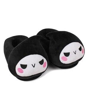 Image 5 - Brdwn OW DVA Reaper 브라운 모노 쿠마 칸 타이 컬렉션 Fate Saber 나츠메 Madara 26cm/10 코스프레 소프트 플러시 따뜻한 슬리퍼 신발