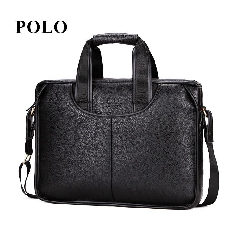 ФОТО Brand Polo New Man Handbag pu Leather Business Messenger Bag Men Computer Shoulder Bag delicate luxurious maleta briefcase