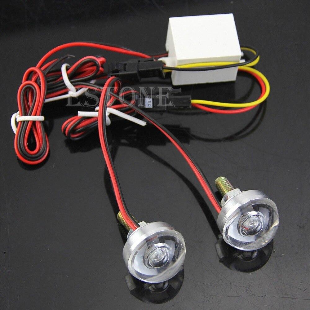 12V Motorcycle License Plate Frame Bolt Red LED lens Light Strobe Flashing New-D2TB smaart v 7 new license