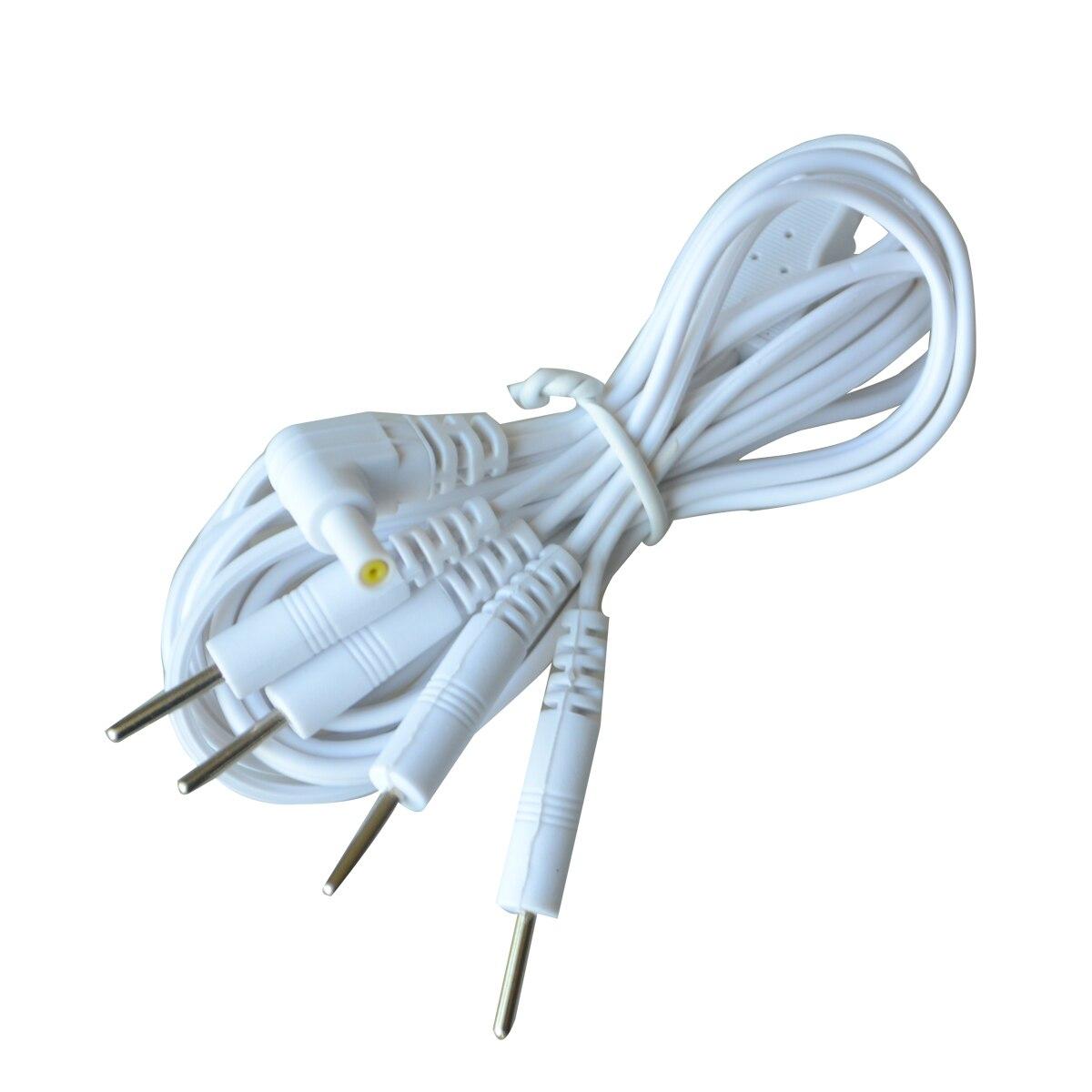 100 шт. Pin 2,35 мм 4 в 1 Head электрода кабель Линия разъема провод цифровые иглоукалывания терапия машина иглы лечение провода