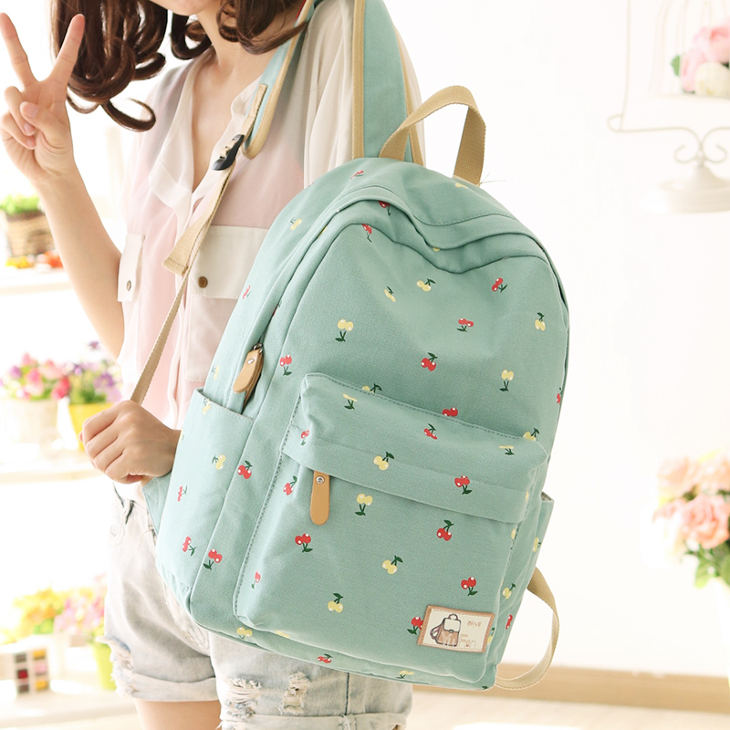 2017 Newest YuFan Cute Fresh Preppy Style Soft Canvas Polyester Women Backpack Women Bag Mochila Bts