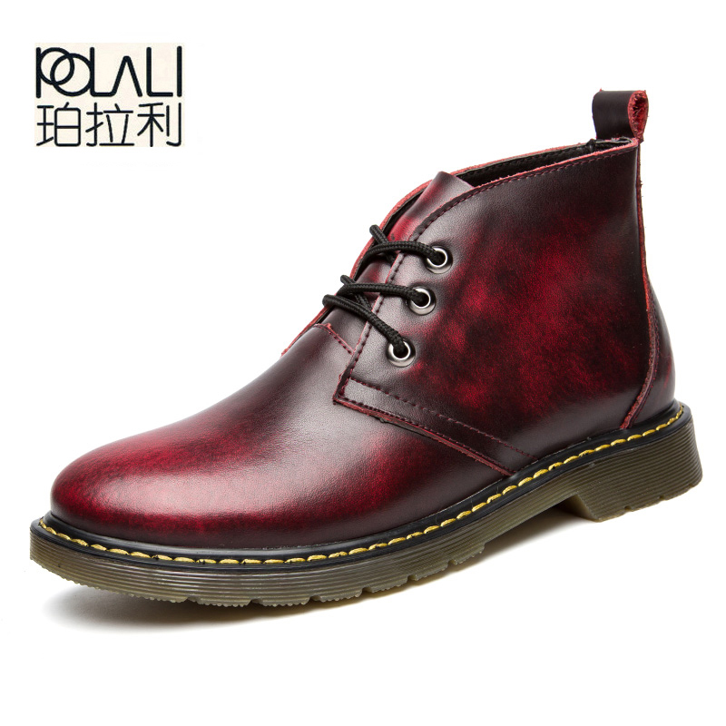 New Work & Safety Shoes Brand Mar Genuine Leather Military Top Quality Boots Men Oxfords Shoes Motorcycle Mens Ankle Boots-in Basic Boots from Shoes    1