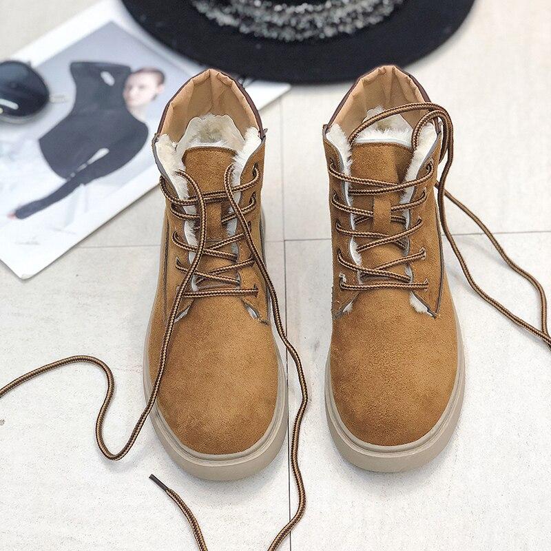 Tobillo Más Martin 2019 Tacones Piel Zapato Nuevo Damas Invierno De Mujer Pantalones Negro brown Para Botas Popular atado Zapatos rIq7tqw