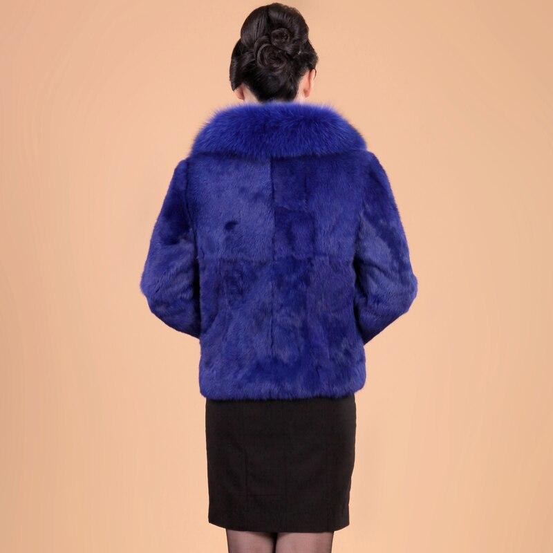 Manteau S Automne Femmes Pelt 2 Taille 3 La Pleine 5xl Et 2018 Col Avec Court De 1 Hiver Mince Plus Survêtement Fourrure Lapin Veste Fox RPqwYrR