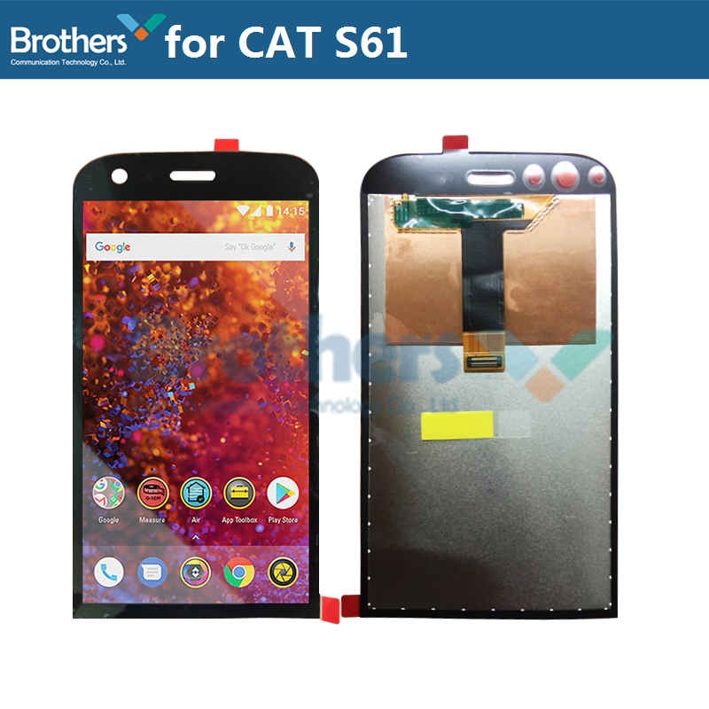 For CAT S61 LCD Display Touch Screen Digitizer for CAT S61 LCD Assembly LCD Screen Phone Replacement Original Test Working 100%For CAT S61 LCD Display Touch Screen Digitizer for CAT S61 LCD Assembly LCD Screen Phone Replacement Original Test Working 100%