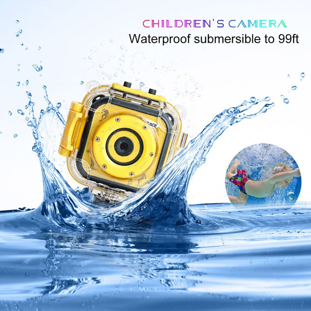 Kinganda Kinderen Kinderen Camera Waterdichte DV HD Camera 1080 P - Camera en foto