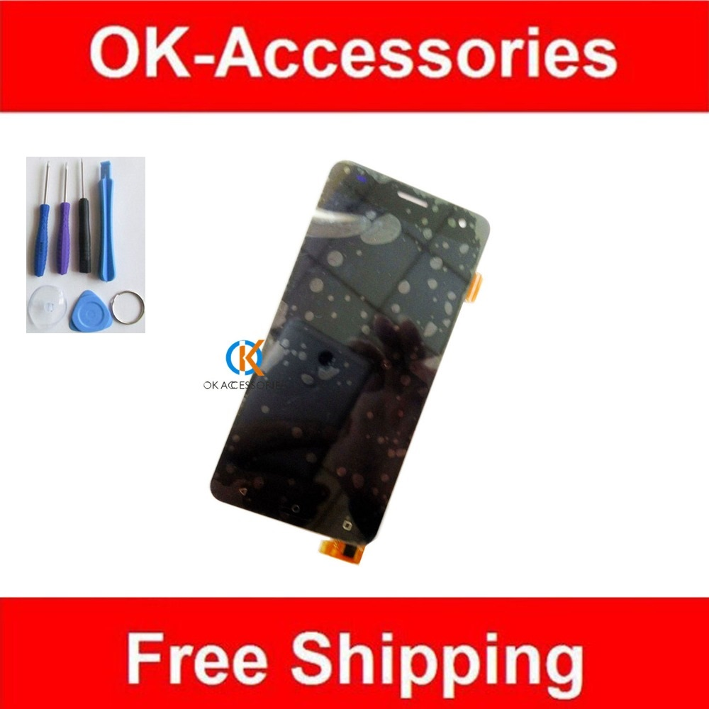 Black White Color For Fly FS504 LCD Display+Touch Screen Digitizer Assembly 1PC/Lot With Tools  high quality 1pc lot lcd display touch screen assembly digitizer for htc 10 evo white black color with tools