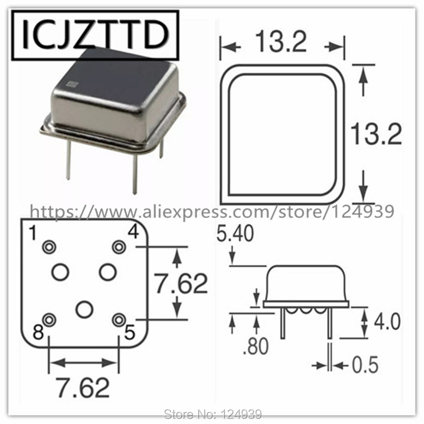 5.120 MHz 5.12M Crystal Oscillator Osc 5pcs 5.12MHz DIP 14