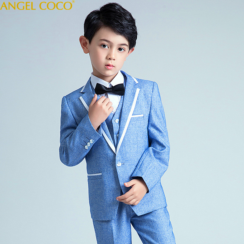 Nimble Blue Boys Suits For Weddings Kids Blazer Suit For Boy Costume Enfant Garcon Mariage Jogging Garcon Blazer Boys Tuxedo blazer conquista blazer