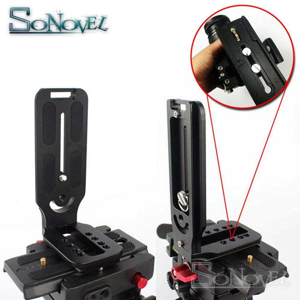 Longer Version Quick Release L Plate Bracket Grip For Nikon D5 D4 D4s D850 D810a D800E D750 D500 for Manfrotto Hydraulic head