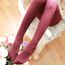 5-Color New Autumn And Winter Lady Was Thin Velvet Pantyhose Bottoming Sweet Little Plaid Stockings Free Shipping