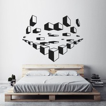 Geometric Wall Art Decals Modern Design Wallpaper Home Bedroom Decoration 3D Sticker Pattern Mural AY1495